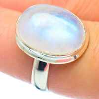 Rainbow Moonstone 925 Sterling Silver Ring Size 8.25 Ana Co Jewelry R35051F