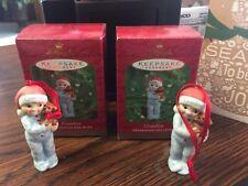 2000 Hallmark Keepsake Christmas Ornament Lot of 2 Grandson