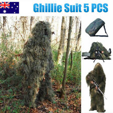 5pcs Ghillie Suit Hunting Archery Sniper Wrap Bag Paintball Camo Adult Gilly M
