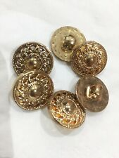 6 Gold Shank Button Swirl Detail  18mm