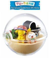 RE-MENT Pokemon Sun Moon Terrarium EX Alola Region Figure Ash's Pikachu & Rowlet