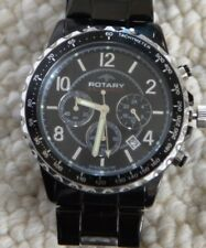 Authentic Rotary Aquaspeed militaire Chronographe Gents Montre-bracelet noir UB00014