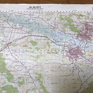 Vintage Albury Wodonga Beechworth  Royal Australian Survey Corp Topographic Map