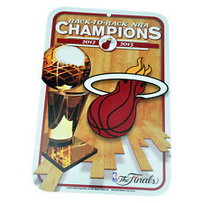 NBA Miami Heat Back to Back 2012 2013 Parking Sign Plastic Finals Champions