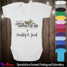 Baby Grow - First Fathers Day Personalised Superhero Gift Present Newborn 1st