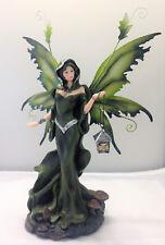 Fairy Night Time Traveler Figurine Metal Wings Green  Legends of Avalon Fantasy