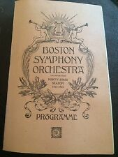 Original Boston Symphony Orchestra 41st Season 15th Programme 1921-1922