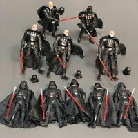 10x Star Wars Saga Lagends 2003 & 2005 Darth Vader With Lightsaber Action Figure