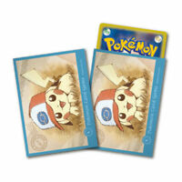 Pokemon Center Card Sleeves Japanese Pikachu Deck Shield Ash's Hat Unova 64pcs