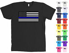 Thin Blue Line Police Support American Flag Shirt Law Enforcement