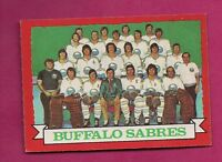 1973-74 OPC # 94 SABRES  TEAM PHOTO NRMT+  CARD (INV#5903)