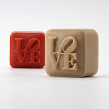Nicole Silicone Soap Mold Handmade Square with Love Characters Chocolate Candy