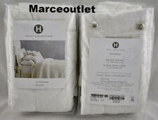 Hotel Collection Trousseau Cotton Quilted STANDARD Pillowshams Set White