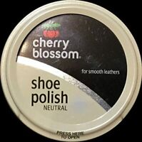 1 x Cherry Blossom Neutral Traditional Shoe Polish Paste 50ml - Smooth Leathers