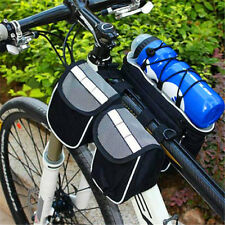 Cycling Bags Bike Bicycle 5 in 1 Frame Front Tube Bag with Rain Cover Gray
