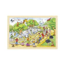 Einlegepuzzle ZOOBESUCH Zoo Tierpark Holzpuzzle Kinderpuzzle Rahmenpuzzle Holz
