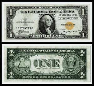 1935-A $1 SERIES NORTH AFRICA WWII YELLOW SEAL SILVER CERTIFICATE~VERY FINE