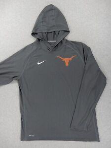 Texas Longhorns Nike Team Issue Hoodie Football Shirt (Mens XL) Gray