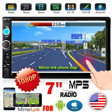 2 Din 7'' Touch Mirror Link for IOS/Android Car Stereo Radio Bluetooth FM AUX SD