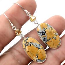 Sterling Silver Earrings Jewelry Ae22713 New listing Maligano Jasper and Citrine 925