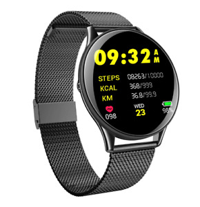 Ultra Slim Smart Watch Blood Pressure Heart Rate Fitness Tracker For Android iOS
