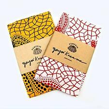 YAYOI KUSAMA Yellow & Red Pumpkin Tenugui Cotton 100% Towel