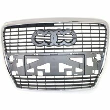 Grille For 2005-2008 Audi A6 Quattro 2006-2008 A6 Chrome Shell w/ Silver Insert