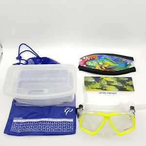 Deep See Adult Scuba Diving Snorkeling Goggles Clarity Mask Yellow