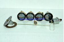 Gauges Kit- 52 Electrical Temp Pressure +Oil +Fuel+ Volt + Senders Black bezel