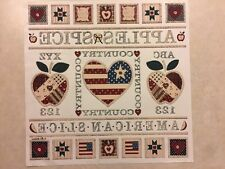 Vintage T-Shirt Heat Transfer Americana/Quilt/USA Theme American Slice