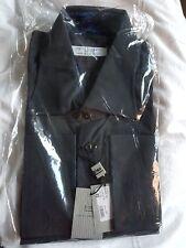 BNWT DARIO PAGANINI 100% Cotton Two Ply 140's Black Shirt size 18