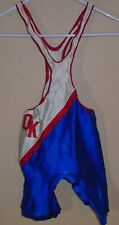 vintage wrestling singlet game used THIN STRAPS size small