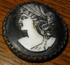 Porcelaine medallion pin black jasper profil Ceres wedgwood sevres???
