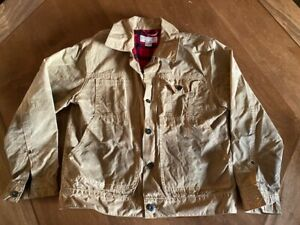 Filson Tin Cloth Short Lined Cruiser Jacket Men M Style 10412 MADE IN USA