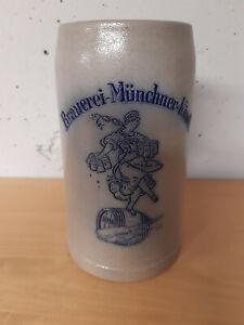Bierkrug Steinkrug Masskug Brauerei Münchner Kindl Bräu München 1L