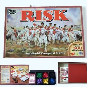 RISK Board Game The World Conquest Game by Parker 1996 Vintage Used GC