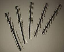 5 Barettes de connexion 40 broches mâles, 2,54 mm. DIY, Arduino, Pi