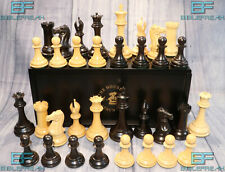 "2009 House of Staunton Collector Chess Set  4.4"" King Real Ebony & Box Wood"