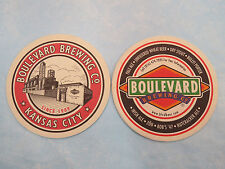 BEER COASTER ~ BOULEVARD Brewing Co Unfiltered Wheat, Bob's '47, Pale Ale,Porter