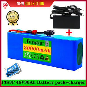 48V 30Ah Lithium li-ion NEW Battery Pack 1000W Bicycle E Bike Electric charger ✅