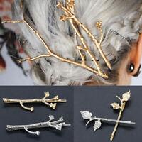 Women Branch Hairpin Hair Clip Hair Jewelry Wedding Bridal Hair Accessori%x