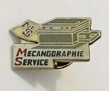 Mecangdraphie Service Photocopier Retro Advertising Pin Badge Vintage (C23)