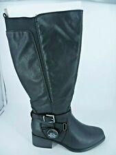 Evans Lulu Knee High Boots Black Extra Wide Fit UK 5 EU 38 BT04 23
