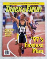 Maurice Green Autographed Signed Track & Field Vintage 1998 Magazine Auto