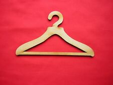 "COAT HANGER FOR DOLL'S CLOTHES x 4 - MDF 15cm wide Fits 18"" doll (10mm hook)"