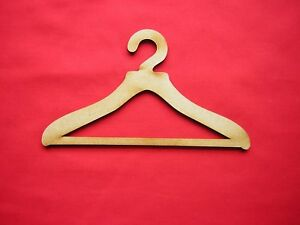 """COAT HANGER FOR DOLL'S CLOTHES x 4 - MDF 15cm wide Fits 18"""" doll (10mm hook)"""