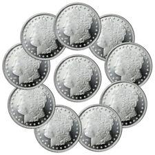Lot of 10 Morgan Design 1 Oz .999 Fine Silver Rounds SKU31048