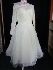 (55)Edles Damen Braut Standesamt Abend Kleid GR: 38