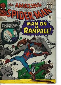 Amazing Spider-Man 32 Doctor Octopus VG/F 1966 Glossy Ditko Cover