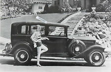"""12 By 18"""" Black & White Picture  About 1931 Chrysler 4 Door"""